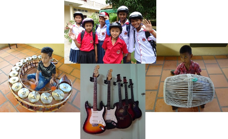 WIG donated musical instruments